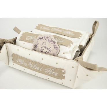 Recycle bin with 2 Asciughini Kitchen Sweet Home - Lovely Shabby