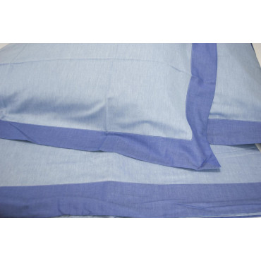 Double sheets King Size light blue/royal Blue Matte Satin Reversible 270x290 under the plan 7084