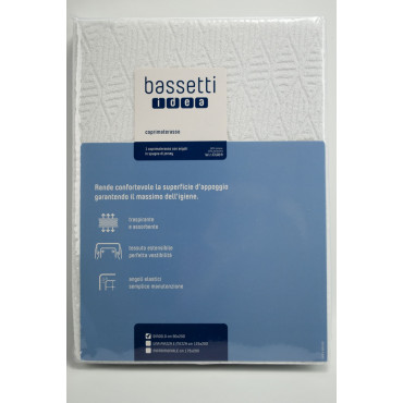 BASSETTI Mattress cover Terry Jersey Elasticated - Double bed Single bed and A Half Square