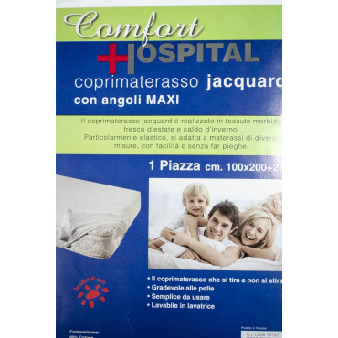 Mattress cover Terry Elasticated Diamond Comfort - Double bed Single bed and A Half Square