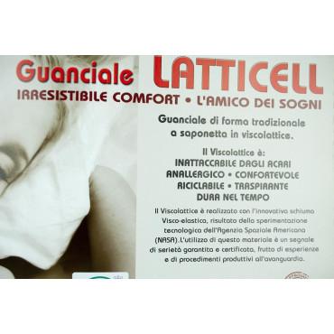 Cuscino Guanciale Visco Lattice Latticell 50x80 Made in Italy