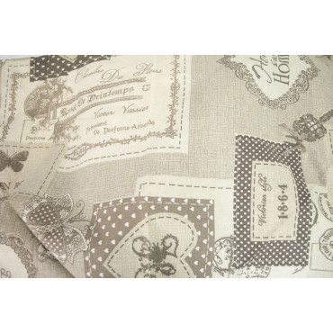 Duvet cover Double Postal Shabby Beige Ecru 250x240 +2 pillow cases - Lovely Home