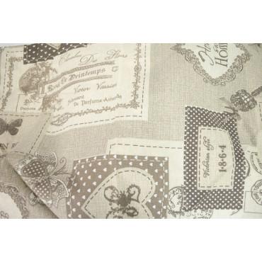 Duvet cover Double Postal Shabby Beige Ecru 250x240 +2 pillow cases - Lovely Home