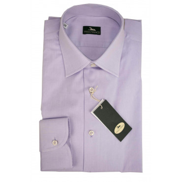 Man shirt by Dress Lilac Poplin Filafil - Philo Vance - Cornflower