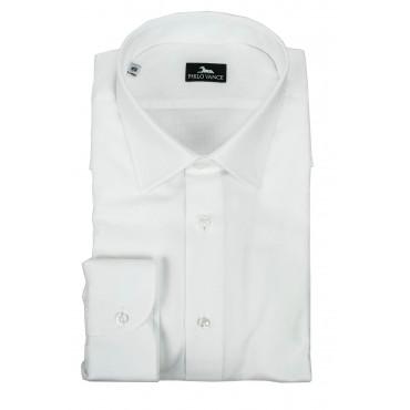 Camicia Uomo Bianca da Abito Tessuto Armaturato - Philo Vance - Dresda
