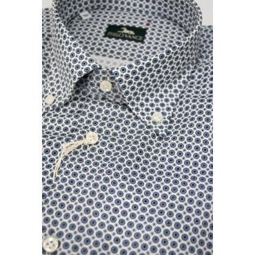 Man Shirt 41 M Button Down Biana Geometric Design - Philo Vance - Kampala