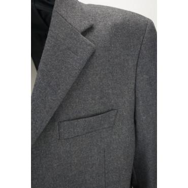 Giacca Uomo 56 Grigia Tessuto Panno Lana 3 Bottoni Foderata - Vestibilità Classica