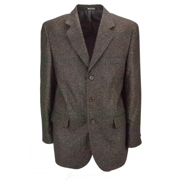 Veste homme 54 Thickbox Brown Wool Cloth 3Buttons - Coupe classique