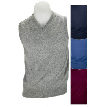 Vest Shirt ScolloV Classic Cashmere Wool Sweater Slim 2-Wire - Space Five