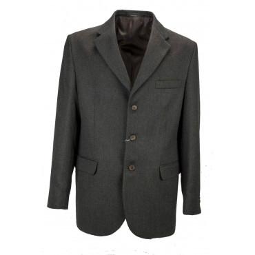 Chaqueta para hombre 54 XXL Tejido gris oscuro gris oscuro 3 botones - Ajuste clásico