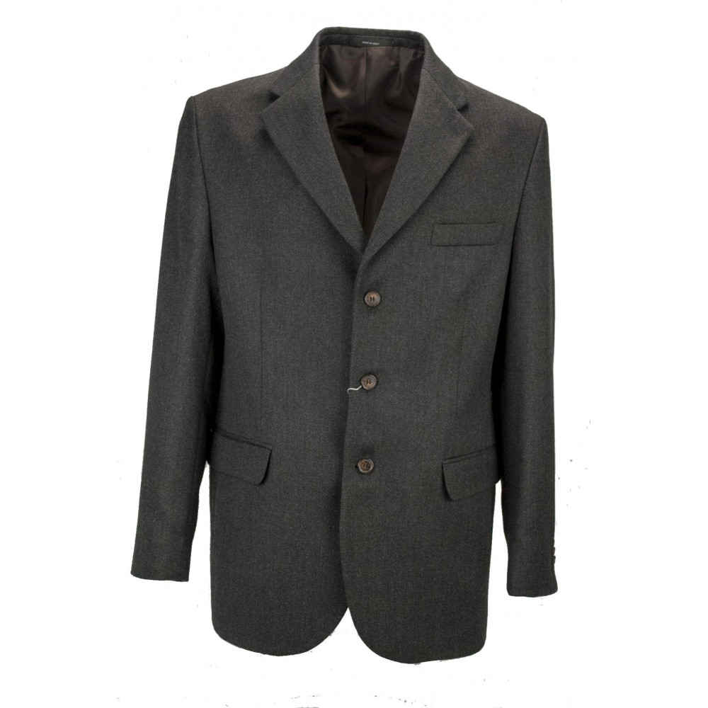 Men's Jacket 54 XXL Dark Gray Grisaille Fabric 3 Buttons - Classic Fit