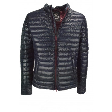 Ultra Light Down Jacket Man 46 S Dark Blue - Montereggi