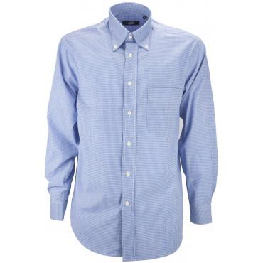 Man Shirt Classic Squares Vichy Poplin - Button-Down - Grino