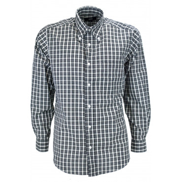 Man shirt Classic Paintings, Black-on-White-Poplin - Button-Down - Grino