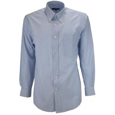 El Hombre De Camisa Clásico Celestial Cuadritos Vichy Popelina - Botón-Abajo - Grino