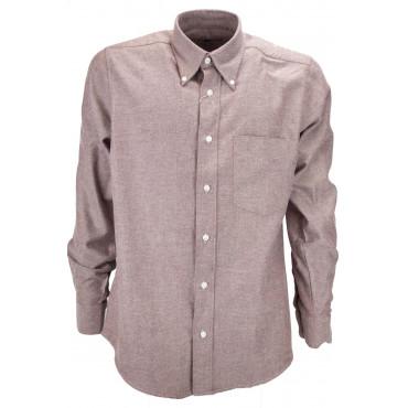 Homme Shirt Classique De Flanelle Rouge-Compatible - Button-Down - Grino