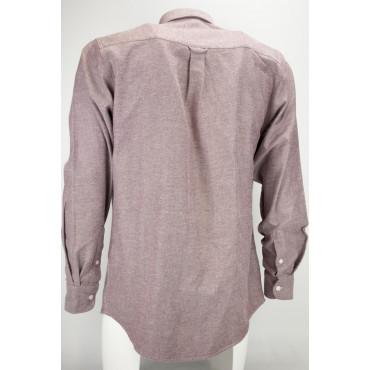Camicia Uomo Classica Rossa Flanella Consistente - Button Down - Grino