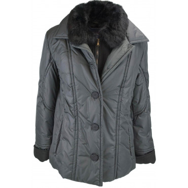 LES COPAINS Jacket Padded Women's 44 M Black Fur - Les Copains Coats and Jackets