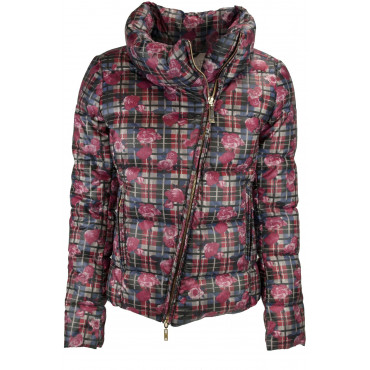 Jacket Quilted Jacket Ladies 42 S Plaid Pattern - VLab