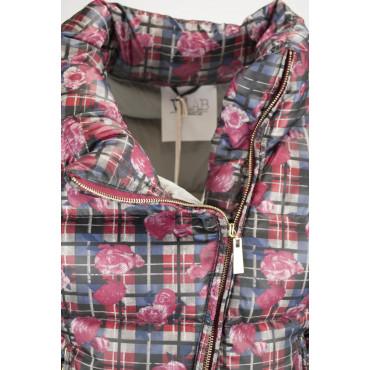 Jacket Quilted Jacket Ladies 42 S Plaid Pattern - VLab