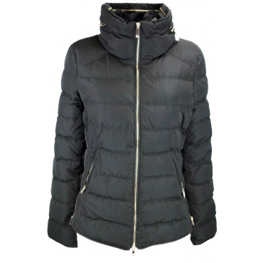 Jacket quilted jacket ladies 44 M Black with Collar, faux Fur - VLab