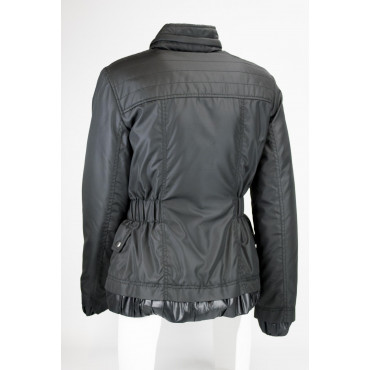 Giacca Piumino Leggero Donna 46 L Nero Rouches Lightweight Down Jacket VLab