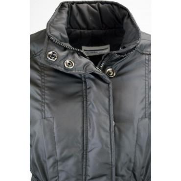 Jacket Quilted Jacket Ladies 44 M Matte Black - Montereggi