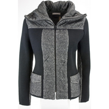 Knit jacket Women's 44 M Black Gray - Hekla&Co.