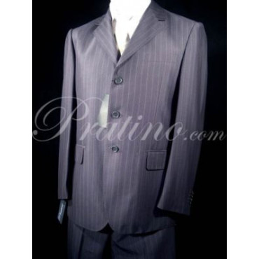 3341 DRESS MAN FRESCOLANA 110 PINSTRIPED DARK BLUE 52 - Clothes Man, Jackets and Vests