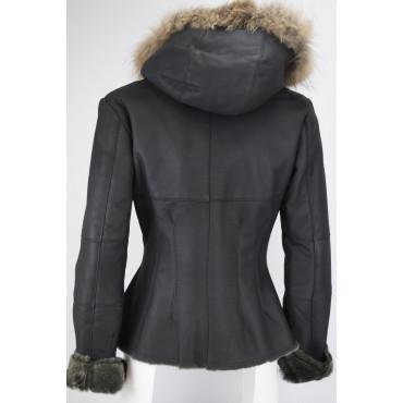 Jacket Shearling Women's 42 S Black Beige Fur Murmaski - Victory