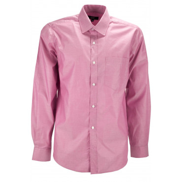 Man shirt Coral Pink Neck French - M 40-41 - dry fit