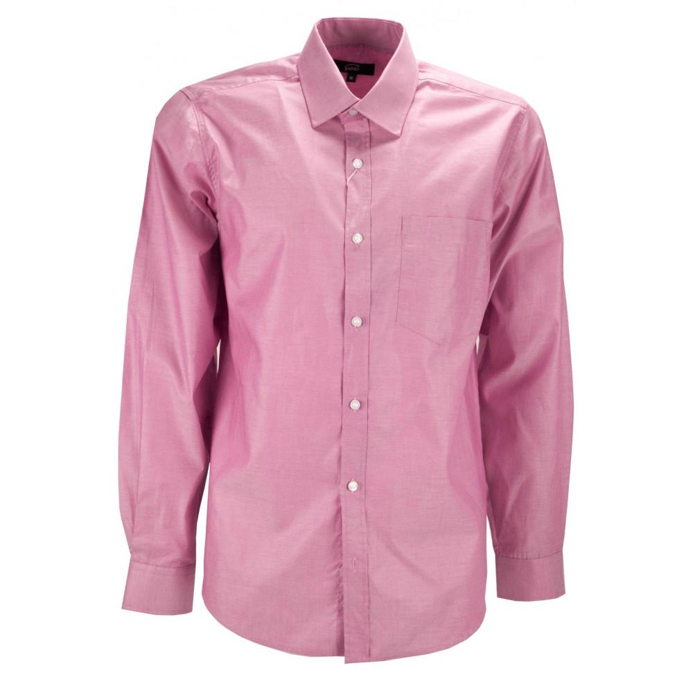 Camicia Uomo Rosa Corallo Collo Francese  - M 40-41 - vestibilità asciutta