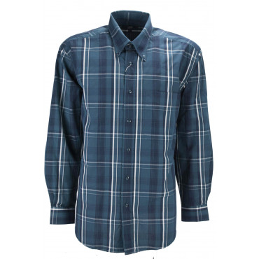 Man Shirt Classic Paintings Of The Scottish Dark Green Poplin Cotton - Button-Down - Grino