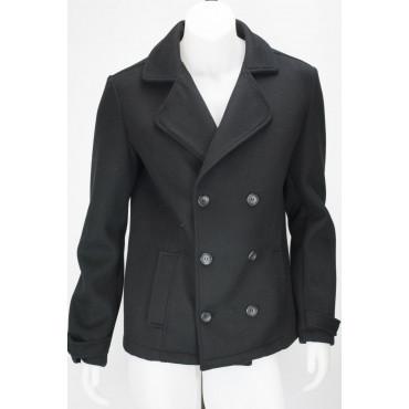 Jacket Men double Breasted jacket 58 3XL Cloth Black Wool - Impervela