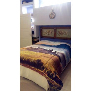 Piumone Trapunta Matrimoniale Paesaggio Toscana Casale Val d'Orcia  Stampa Digitale - Marta Marzotto