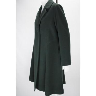 Cappotto Lungo Donna 46 L Panno Lana Verde - Montereggi