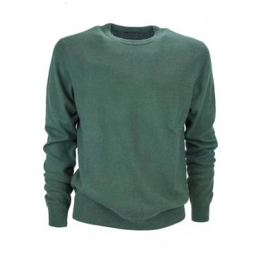 Camiseta de cuello redondo camiseta de Hombre Puro Cashmere 2Fili - Espacio de Cinco