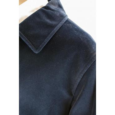 Giacca Lunga Uomo 50 L Blu Inchiostro Velluto Liscio Soprabito -  Abiti Uomo, Giacche e Giubbotti