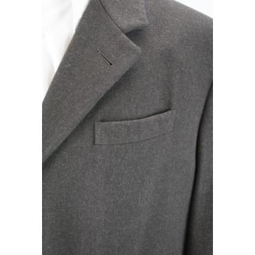 Men's 3/4 Coat 48 M Brown Cloth Wool Cashmere Blend Loro Piana - Reiss