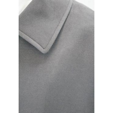 Giacca Lunga Uomo 50 L Grigio Scuro Velluto Martellato Soprabito -  Abiti Uomo, Giacche e Giubbotti