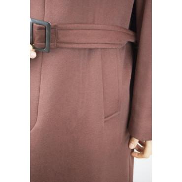 Classic Coat 46 S Pure Cashmere Brown