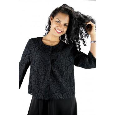 Pierre Cardin Dress Woman L 46 Dress Black Lace - Shoulder Straps-Large