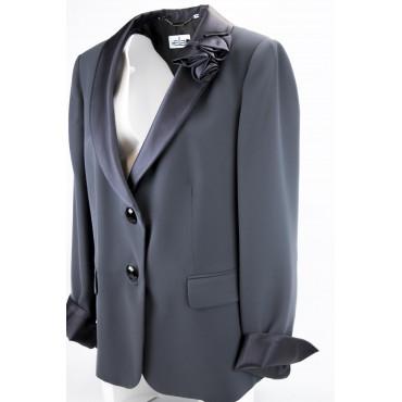 Tuxedo jacket Women's Black size convenient - Blazer Elegant