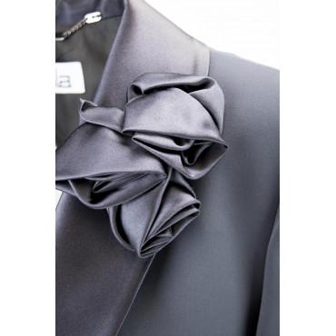Giacca Smoking Donna Nero taglia comoda - Blazer Elegante