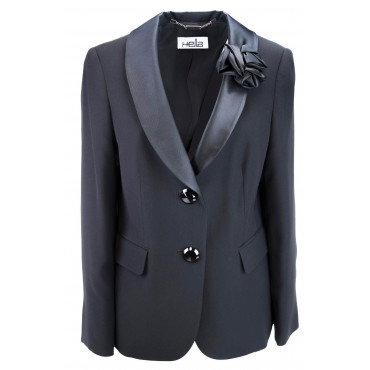 Tuxedo jacket Women's Black size convenient - Blazer Elegant
