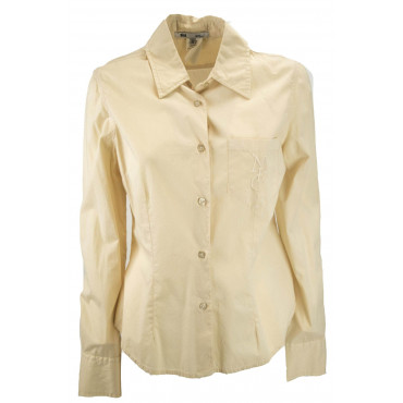 LES COPAINS Jacket Screwed Woman Pocket 44 M Beige Dresses, Shirts, t-shirts