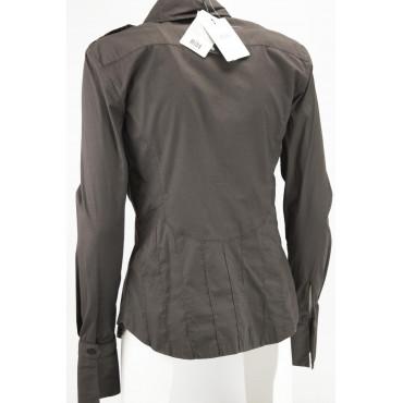 LES COPAINS Camicia Avvitata Donna Taschini 40 XS Marrone -  Abiti, Camicie, TShirt