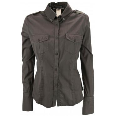 LES COPAINS Chaqueta de Atornillado Mujer Bolsillos de la chaqueta 40 XS - Marrón Vestidos, Camisas, t-shirts