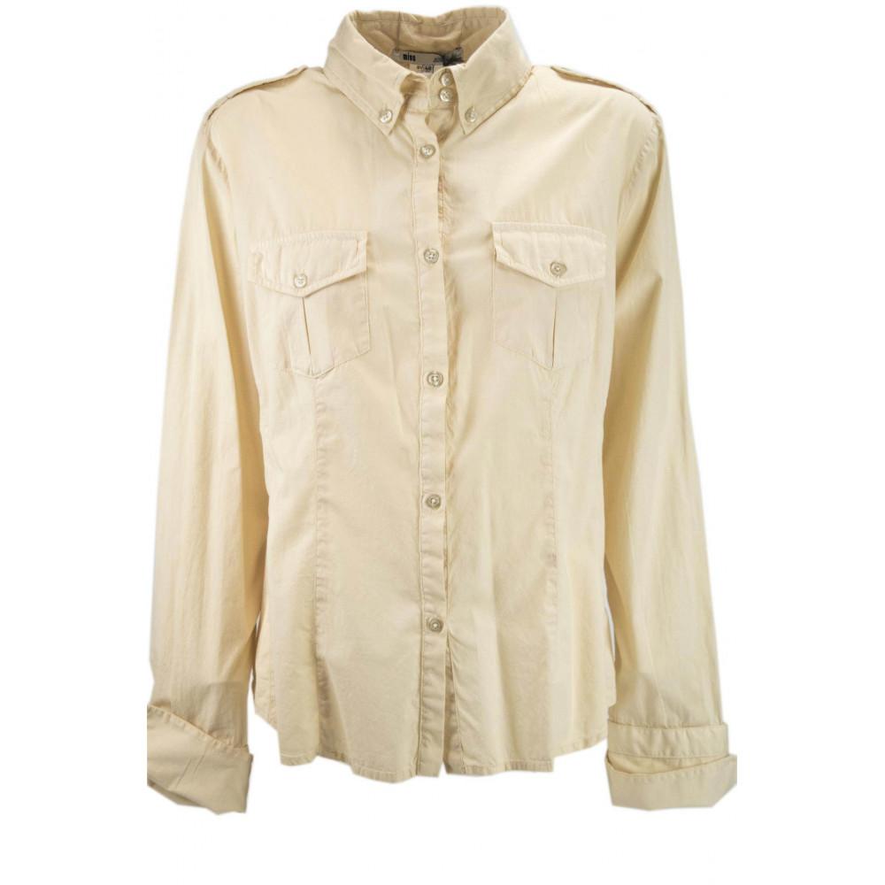 LES COPAINS CAMISETA de la MUJER +BOLSILLOS de la chaqueta BEIGE de ALGODÓN XL 48 - Vestidos, Camisas, t-shirts