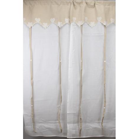 coppia tende porta finestra 60x240 bianco ecr a pacchetto